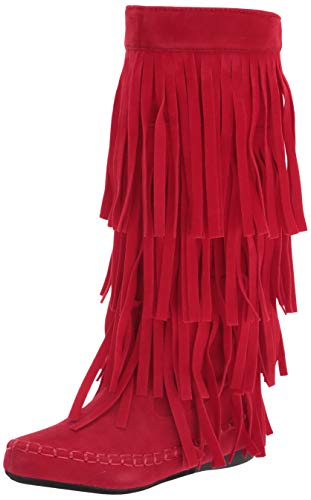 V-Luxury Women's V-MUDD-55-RED-7 Hiking Shoe, Red, 7