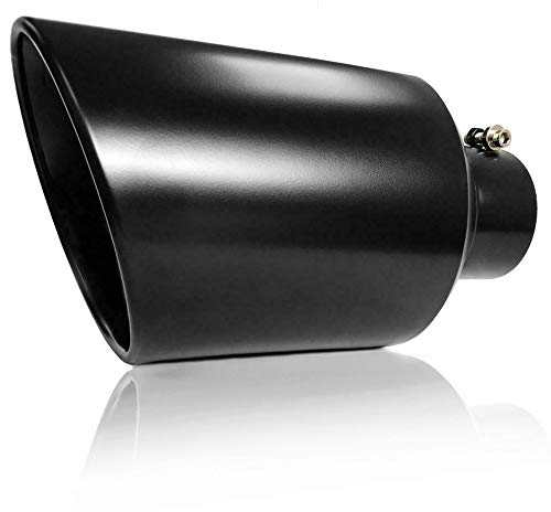 Powder Coated Bolt On Diesel Exhaust Tip 4' inlet 8' Outlet 15' Long (BLACK)