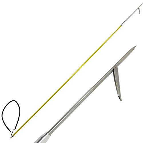Scuba Choice 7' One Piece Spearfishing Fiber Glass Pole Spear with 1 Prong Single Barb Tip