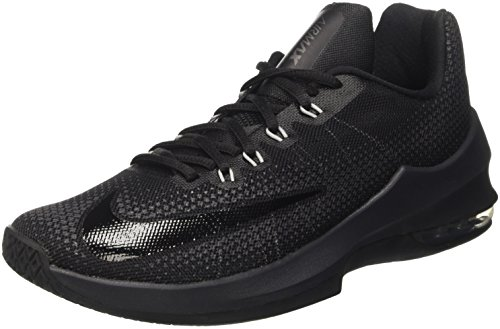 Nike Herren Air Max Infuriate Low Basketballschuhe, Schwarz (Black/Black/Anthracite/Dark Grey), 42.5 EU