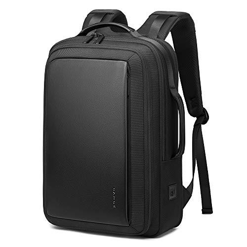 Business Laptop Rucksack für 15.6 Zoll Notebook Diebstahlsicherung Schulrucksack mit USB-Ladeanschluss wasserdichte Reiserucksäcke für Herren/Damen- Schwarz