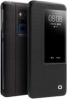 Botongda Funda Huawei Mate 20 X 5G,Estuche de Cuero Inteligente,sin Necesidad de Voltear la Tapa y contestar el teléfono,con función Dormir/Despertar para Huawei Mate 20 X 5G(Negro)