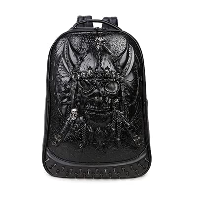 ZHAOMIAO Mochila 3D Bolsos de hombro para hombres Mochila Gothic Rock School Mochila Hombres Cool Casual Mochilas escolares para niños 44 * 32 * 12cm 3
