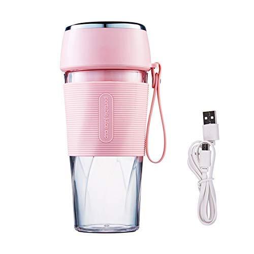 Tragbare Entsafter Cup Fruit Mixer Blender Bottle Mini USB aufladbare Entsaften Mischen Eis Shakes Smoothie-Hersteller 300ML Obst (Color : -)