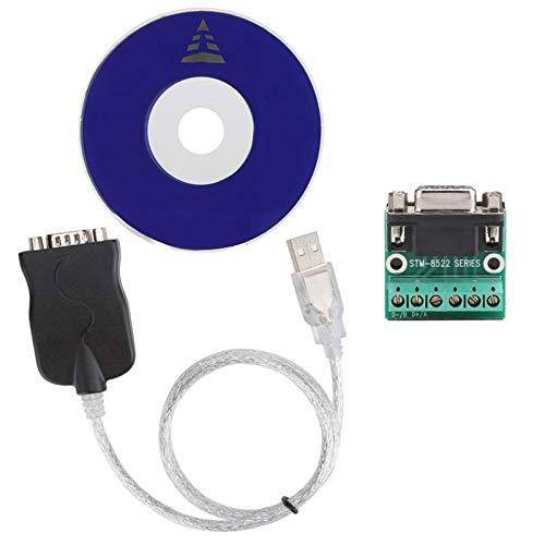 Shipenophy Adaptateur de Port de convertisseur USB vers RS485 Durable Transmission Stable largement utilisée Bonne compatibilité ABS pour Appareil Photo numérique pour Mini téléphone
