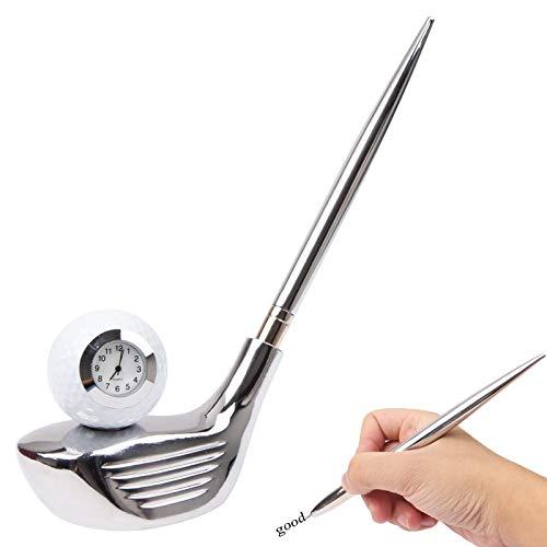 for Office&School Wr 3 in 1 Kreativ Golf Club Art-Feder-Halter/Kugelschreiber mit Uhr
