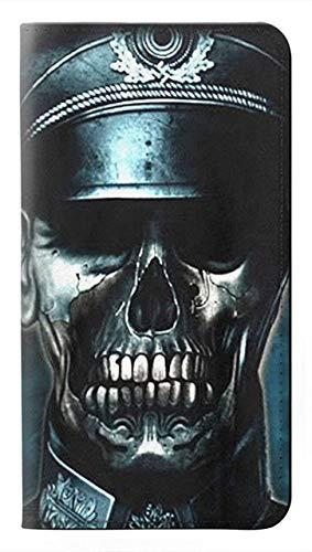 Innovedesire Skull Soldier Zombie Flip Hülle Tasche Klappetui für LG G8X ThinQ