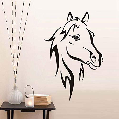Decors Girlsredpersoonlijkheid Creatieve Animal Horse Head Kan Transfer Een Generatie van Gesneden Zelfklevende Home Achtergrond Decoratieve Muurstickers