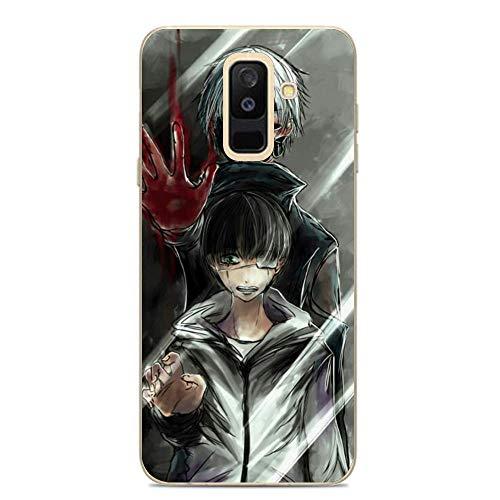 SHUAIJA Thin Clear Coque Transparent Soft Slim TPU Crystal Case Cover For Samsung Galaxy A6 Plus/J8 2018/A9 Star Lite-Tokyo-Ghouls Kaneki-Ken 3