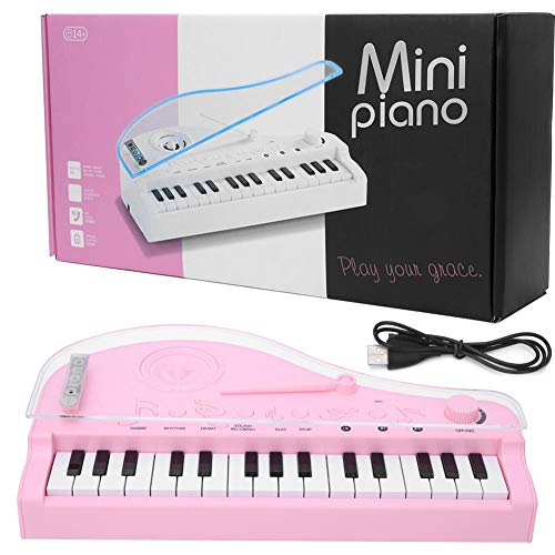 Tnfeeon Mini Teclado de Piano eléctrico de 31 Teclas para n