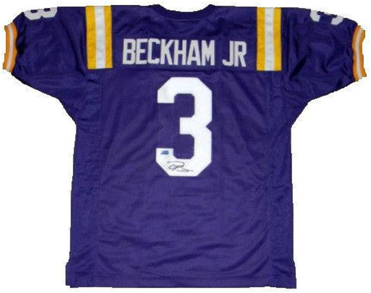Signed Odell Beckham Jr. Jersey   3 Purple Coa  Autographed College Jerseys