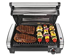Locks in juices and flavors: Sear at 450 degrees or use adjustable temperature dial to grill at lower heat for optimal grilling results. Enjoy grilling all year long: This indoor grill with hood has a high searing heat that locks in juices and flavor...