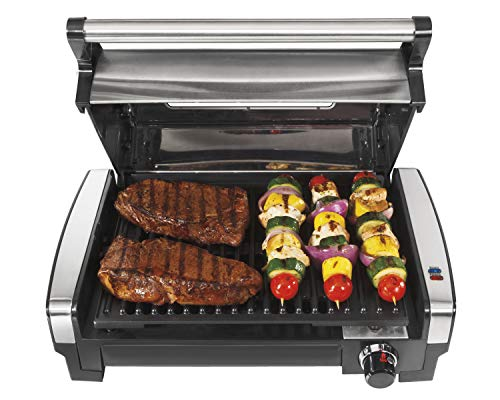 Hamilton Beach Electric Indoor Searing Grill with...