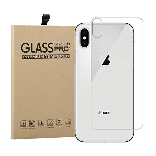 Protector Trasero para iPhone X + Lente Protector de Pantalla, EUGO Ultra Delgado 9H Tempered Glass Protector de Pantalla Cristal Templado Trasero para iPhone X