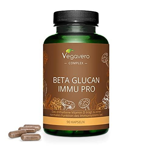 Betaglucano Complex Vegavero | Con Vitamina C + Vitamina D3 | Sistema Inmunológico & Defensas | Suplemento Natural | Sin Aditivos | 90 Cápsulas | Vegano