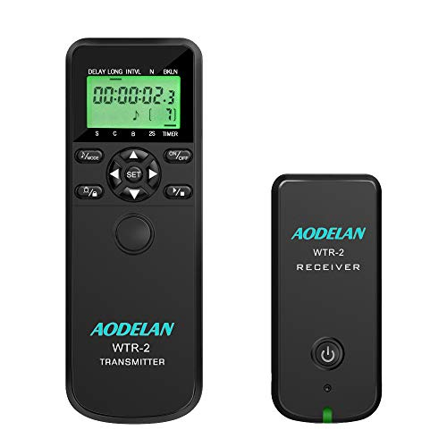 Wireless Shutter Release Intervalometer Timer Remote Control with LCD and HDR for Nikon D750, D3200, D5300, D5600, D7200, D7500, Z7, D500,D850, Coolpix P1000
