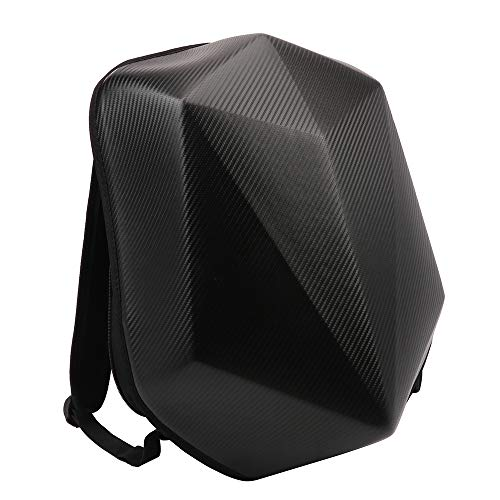 Motorcycle Backpack Hardshell Bags Luggage - Carbon Fiber Large Capacity Hard Shell Motorbike Helmet Backpack Waterproof Riding Laptop Bag For Travelling Camping Cycling Storage Bag