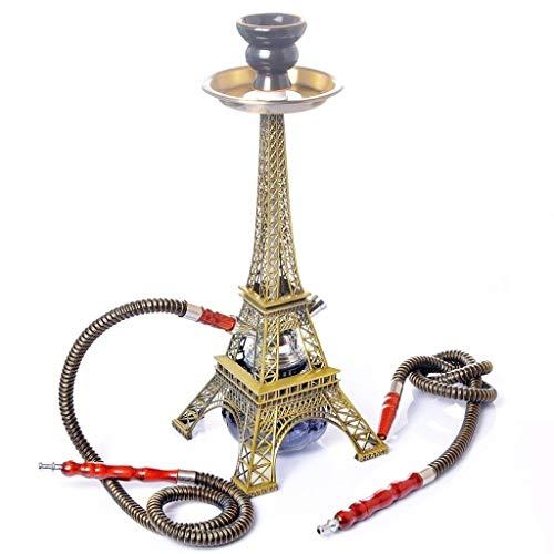 YYF Huka Haushalt arabische Shisha Bar Shisha Komplette Paris Turm Shisha Doppelrohr-Set