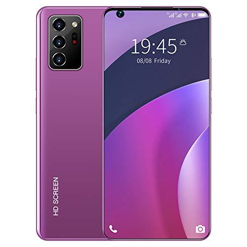 ELLENS Entsperrtes Handy, 2020 Neues Android-Smartphone, günstiges 3G-Handy, Dual-SIM, 5600-mAh-Akku (Lila/Blau/Weiß)