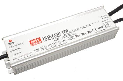 MeanWell HLG-240H-24B - Controlador LED regulable, 240 W, 24 V CC, 10 A, voltaje constante