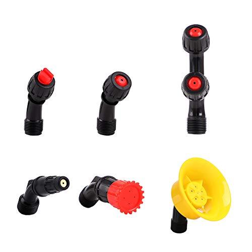 Aimela Spray Nozzle Tips,6 Piece Multifunctional Spray Combination,Adjustable Nozzle,Suitable For Replacing Backpack Sprayer Nozzle,Farm Nozzle,Water Pump Nozzle And Orchard Nozzle