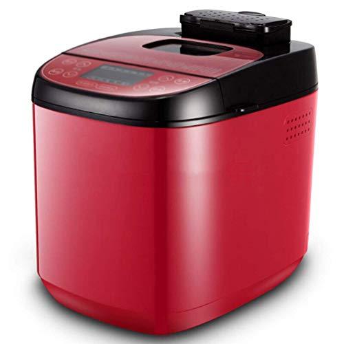 Volautomatische Brood Machine Digital Brood Machine Programmable glutenvrij brood Machine Programmeren 24 Menu-instellingen 460W, Red ZHW345
