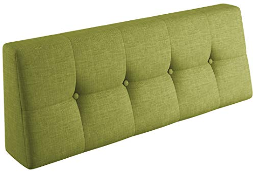 sunnypillow Coussin Dossier pour Palette Euro Canapé Intérieur/Extérieur Appui 120 x 40 x 20/10cm plusieures Tailles et Couleurs à Choisir Coussin Matelas en Mousse Vert Limone