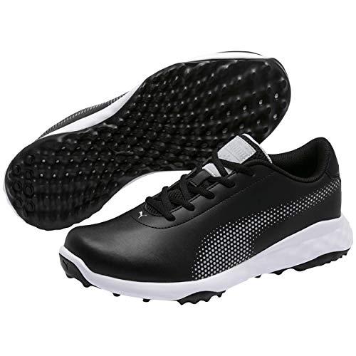 PUMA Golf Men's Grip Fusion Tech Spikeless Golf Shoes, 10.5 Medium Black/Quarry