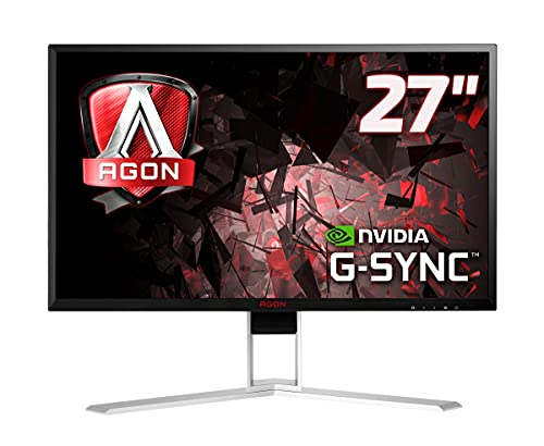 "AOC AGON AG271QG Monitor Gaming da 27"" IPS, QHD, 2560 x 144, 165 Hz, 4 msec, Speaker, DP, HDMI, 4 Porte USB, G-Sync, Nero"
