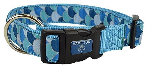 "Hamilton FAS RO P56 Fashion Adjustable Dog Collar, Fish Scale, 5/8"" x 12-18"""