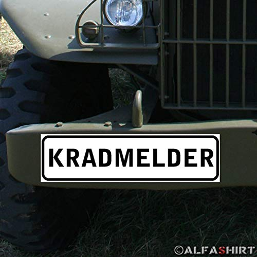 German Army # Paper Information Road Motorcycle Rod Magnet Sign Motorcycle Detector Messenger Post A347