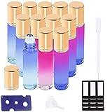 Ätherische Öle Roller Flaschen Multicolor Glasflaschen Edelstahl Roller Bällen 10ml mit für...