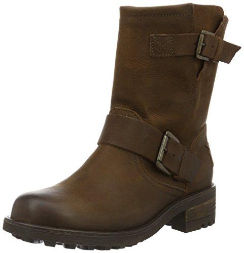 BULLBOXER Damen Biker Boots, Braun (Cognac), 36 EU