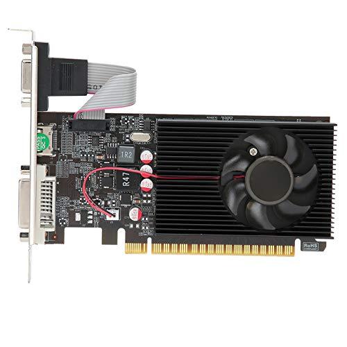 Dilwe GT730 Computergrafikkarten, 4G 64 Bit DDR3 Grafikkarten mit 1200 MHz, PCI Express 2.0 Steckplatz für Desktop Computer