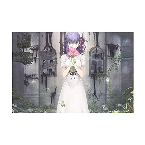 HQHQH Fate Sakura Matou Wooden Rompecabezas de Madera de Anime Rompecabezas de Juegos de Juguete de descompresión Familiar (500pcs)