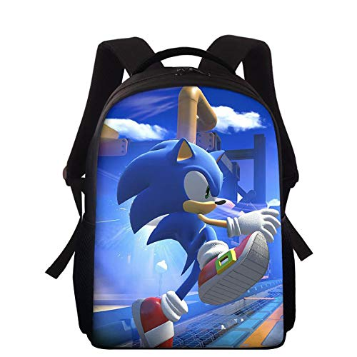Laptop Backpack, Sonic The Hedgehog 3D School Bag Water-Resistent Laptop Backpack with USB Charging Port for Men & Women Slim Travel Bookbags,1