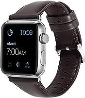 KNY 2125205555 Apple Watch 40 MM İçin Renkli Suni Deri Kayış-Kordon, Koyu Kahverengi