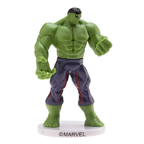 Dekora – Statuetta per torta compleanno bambini dell'Incredibile Hulk 9 cm
