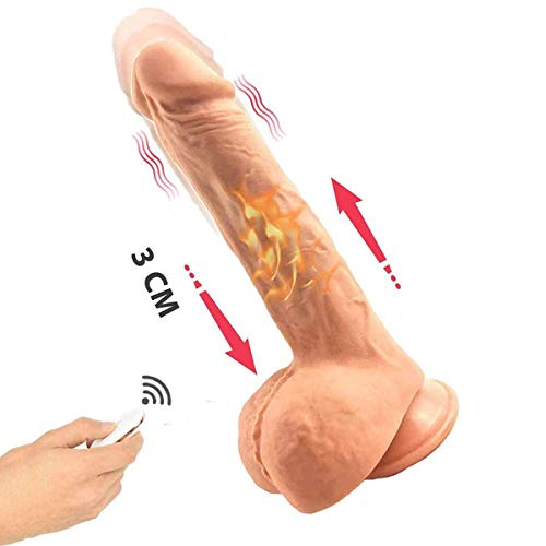 Consolador vibrador con forma de pene realista con 7 modos de estimulación.