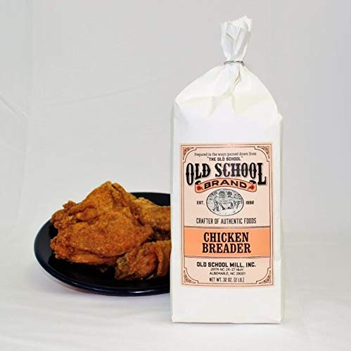 Old School Brand Authentic Chicken Breader (2 Pound Bag) - GREAT for breading baked or fried chicken and vegetables!