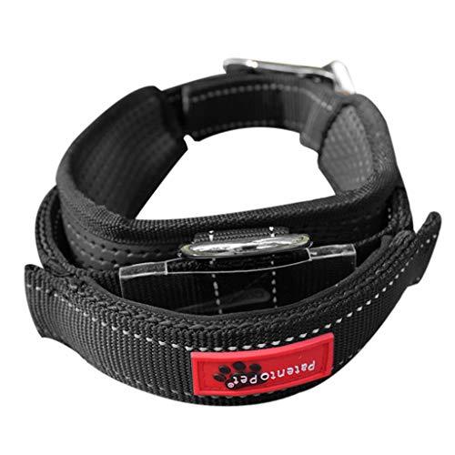 Koobysix Dog Supplies Hundehalsband, einziehbar, mit integrierter Leine, mit Griff