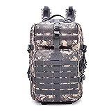 Mochila Assault Pack Backpack Daypack Rucksack 50L Paño de Oxford Impermeable Multifuncional Ligera Plegable Unisexo,ACU-Digital