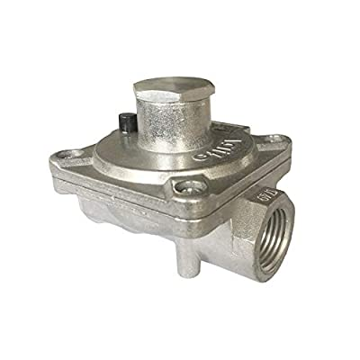 """GRILLJOB Natural Gas Grill Regulator Gas Pipe in/Out 1/2'' X 1/2""""-14NPT, Inlet Pressure:1/2"""" PSI, Outlet Pressure LPG 10"""" NG 4"""" W.C, NPT Natural Gas Low Pressure Regulator from GRILLJOB"""