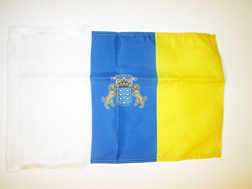AZ FLAG Bandera de CANARIAS 45x30cm - BANDERINA Canaria 30 x 45 cm cordeles