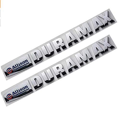 Yoaoo 2x OEM Allison Duramax Badges Emblems for Gm 2015 Silverado 2500Hd 3500Hd Hood Chrome Blue