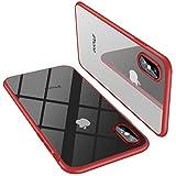 Kaome iPhone Xs Hülle, Verbessertesr Ganzkörperschutz mit Harter Rückseite und weicher...