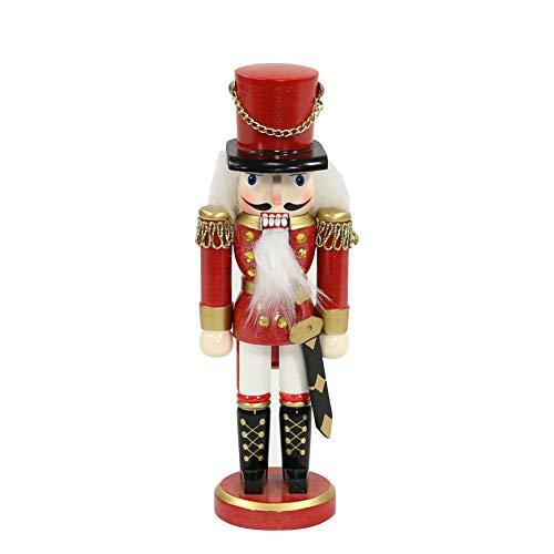 Dekohelden24 Zauberhafter Nussknacker Soldat in rot klassisch, ca. 25 cm