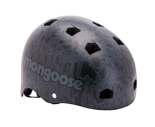 Mongoose BMX Bike Helmet, Multi Sport Kids Helmet, Grey/Black