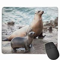 マウスパッド アシカプリント 光学式マウス対応 おしゃれ 滑り止め 防水 耐洗い表面 オフィス用 家庭用 30*25CM
