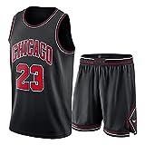 CNMDG Jordan, Bulls #23 - Camiseta deportiva con camiseta deportiva para niños, diseño retro, color rojo y negro (S-2XL)